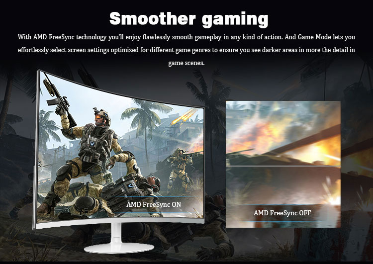 gaming monitor curved 4k