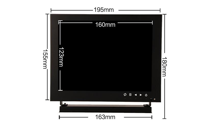 8 inch monitor square screen monitor